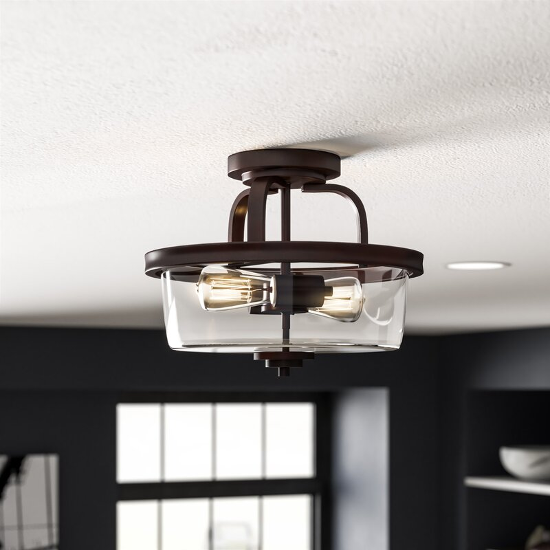 Trent Austin Design Poteau 2 Light Semi Flush Mount