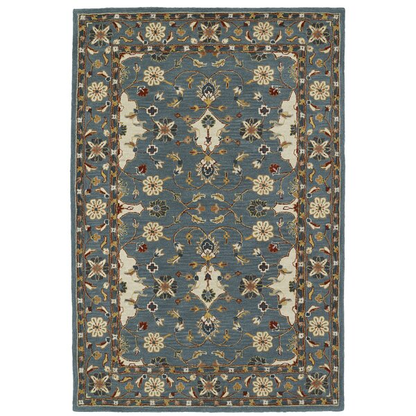 Curtiss Handmade Teal Area Rug by Bloomsbury Market