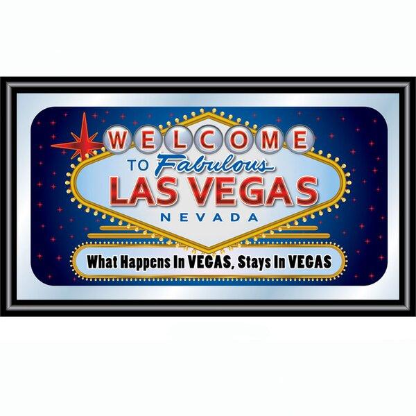 Las Vegas Framed Vintage Advertisement by Trademark Global