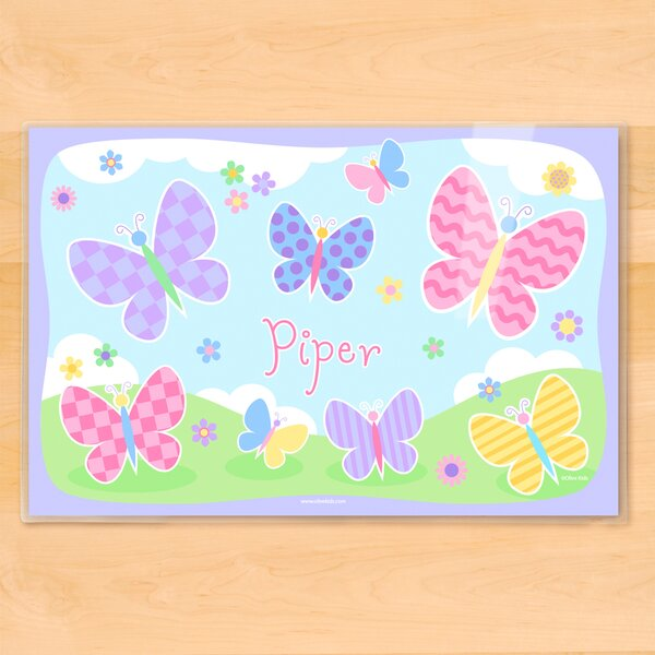 Butterfly Garden Personalized Placemat by Olive Kids