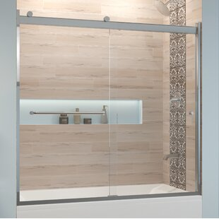 Price comparison Rotolo 60 x 57 Bypass Semi-Frameless Tub Door By Basco