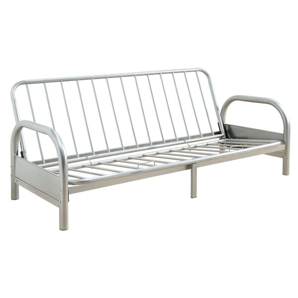 Adjustable Metal Futon Frame With Armrests by Latitude Run