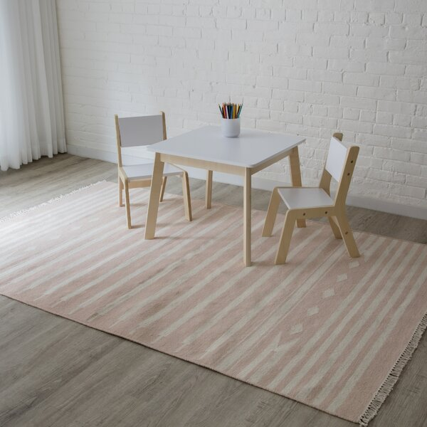Thompson Billings Hand-Woven Wool Pink Area Rug by Erin Gates by Momeni