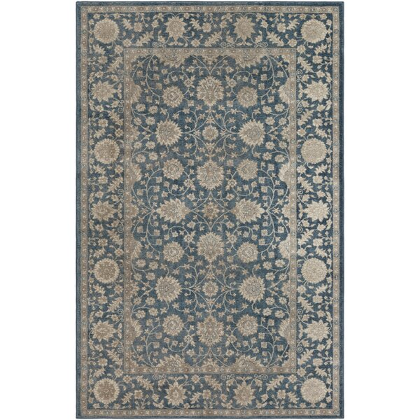 Ismael Navy/Beige Area Rug by World Menagerie