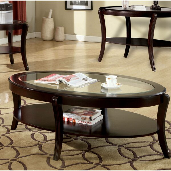 Red Barrel Studio Glass Top Coffee Tables