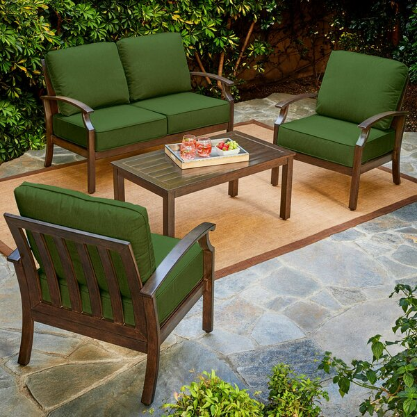 Yandel Bridgeport 4 Piece Sofa Seating Group with Cushions by Darby Home Co