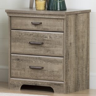 Versa 3 Drawer Nightstand with Charging Station