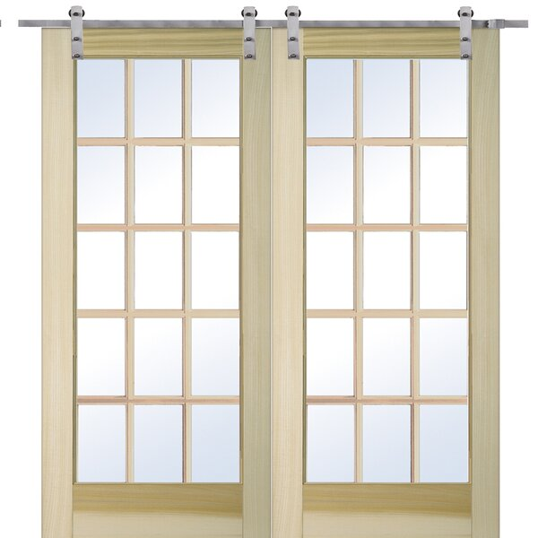 Wood and Glass 2 Panel French Door by Verona Home Design