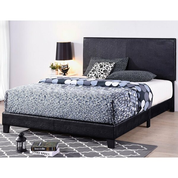 Moyers Faux Leather Upholstered Standard Bed by Canora Grey