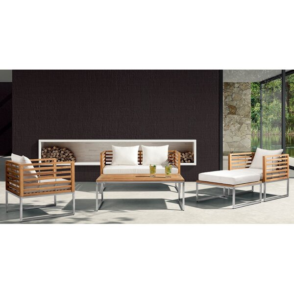 Balerna 5 Piece Teak Sofa Set with Cushions by Velago