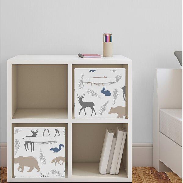 Woodland Animals Fabric Storage Cube by Sweet Jojo Designs