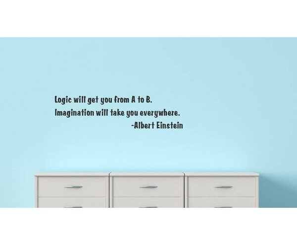 Logic Will Get You From A to B Wall Decal by Design With Vinyl