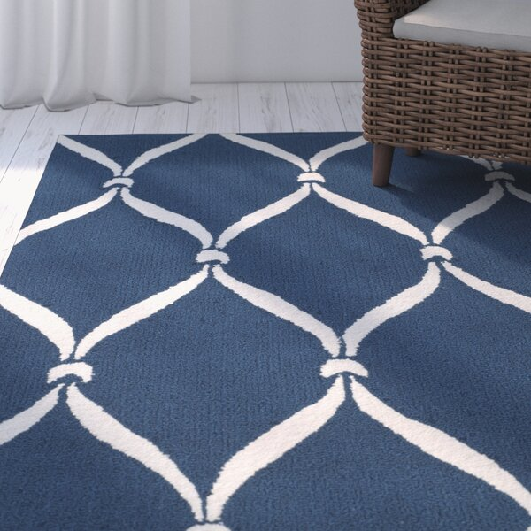 Millwood Navy & Ivory Area Rug by Beachcrest Home