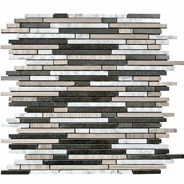 Hollywood Random Strips Random Sized Stone Mosaic Tile by Parvatile