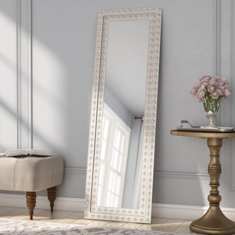 Sveta rectangle glass floor mirror reviews birch lane for Glass floor mirror