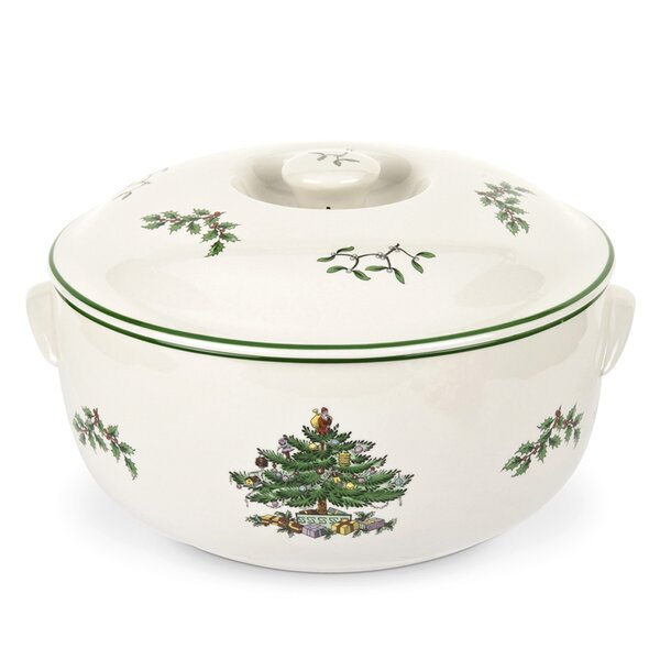 2 Qt. Round Covered Deep Dish by Spode