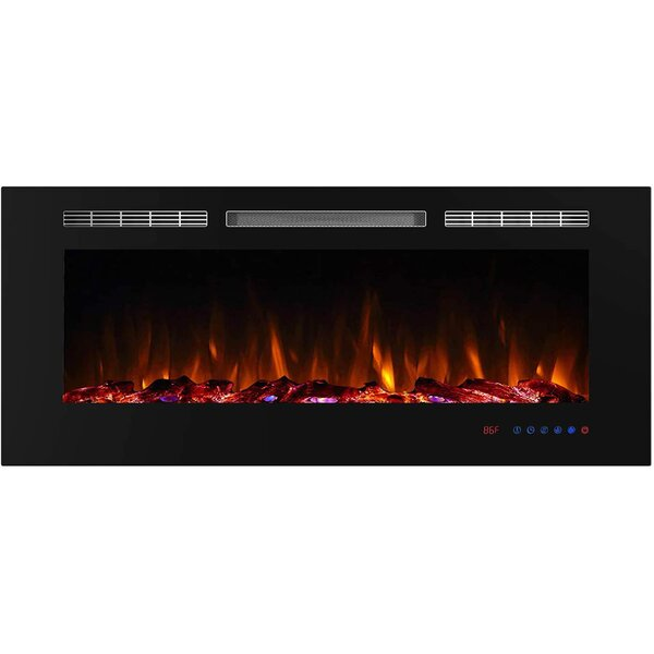 Calma Recessed Electric Fireplace Insert By Orren Ellis