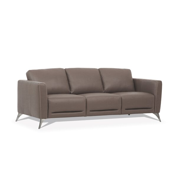 Akinruntan Leather Sofa By Orren Ellis