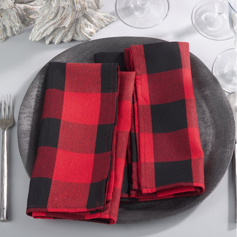 "Edicott Buffalo Plaid 20"" Napkin"