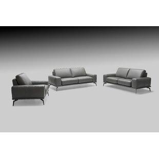 Micky 3 Piece Leather Living Room Set by Brayden Studio®