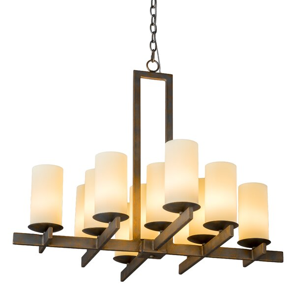 Kipp 12 - Light Shaded Geometric Chandelier By Millwood Pines