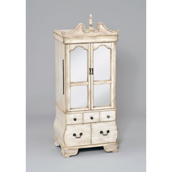 Densmore Free Standing Jewelry Armoire With Mirror By One Allium Way by One Allium Way 2020 Sale