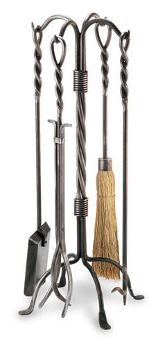 Twisted Rope 5 Piece Fireplace Tool Set by Pilgrim Hearth