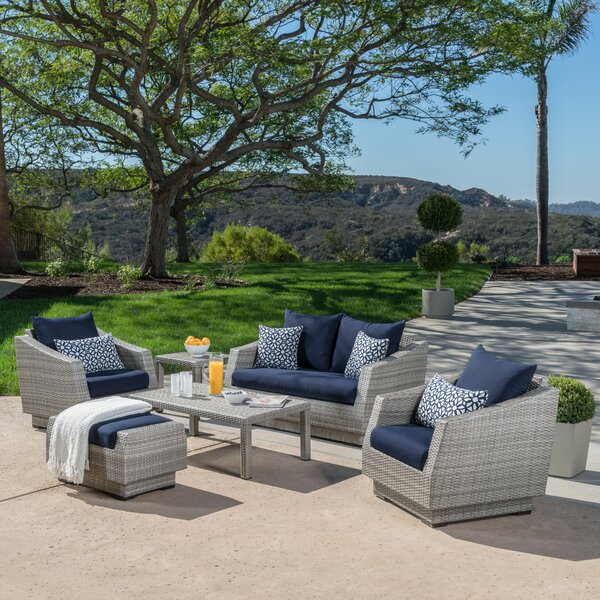 Castelli 6 Piece Sofa Set with Sunbrella Cushions by Wade Logan