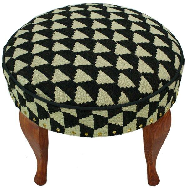 Strait Kilim Upholstered Handmade Ottoman by Bloomsbury Market