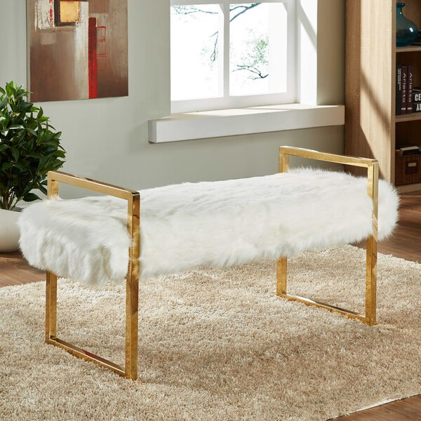 Fawn Upholstered Bench by Everly Quinn