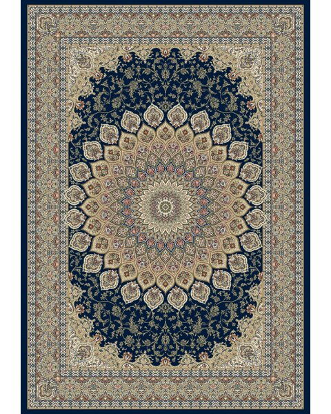 Attell Persian Navy Area Rug by Astoria Grand