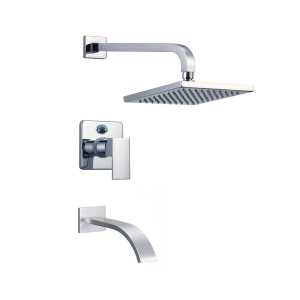 Narmada Thermostatic Tub and Shower Faucet with Valve, Trim, and Diverter by Eisen Home