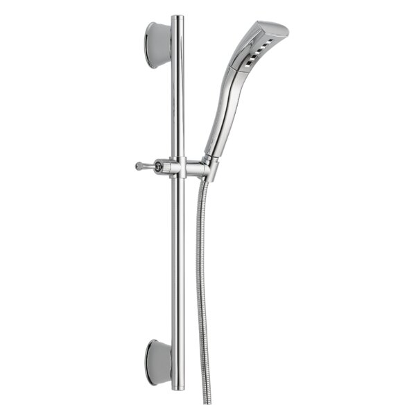 Universal Showering Components Slide Bar Shower Head With H2okinetic Technology By Delta