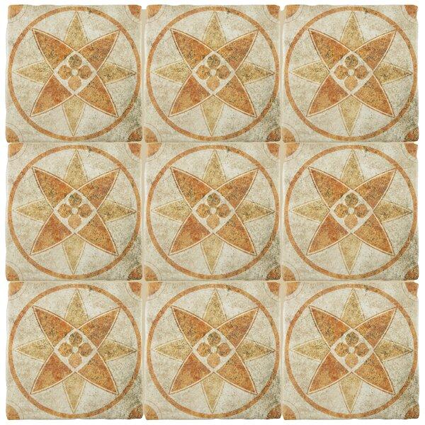 Diego 7.75 x 7.75 Ceramic Field Tile in Brown by EliteTile