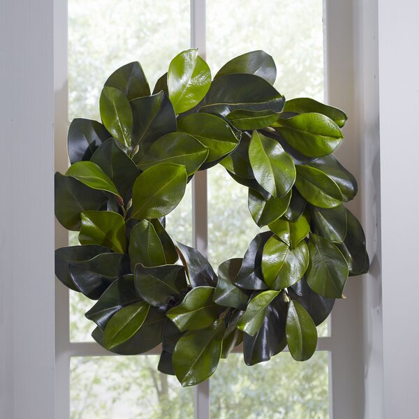 Faux Magnolia Leaf Wreath by Birch Lane™