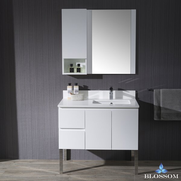 Maly 37 Single Bathroom Vanity Set with Mirror by Orren Ellis