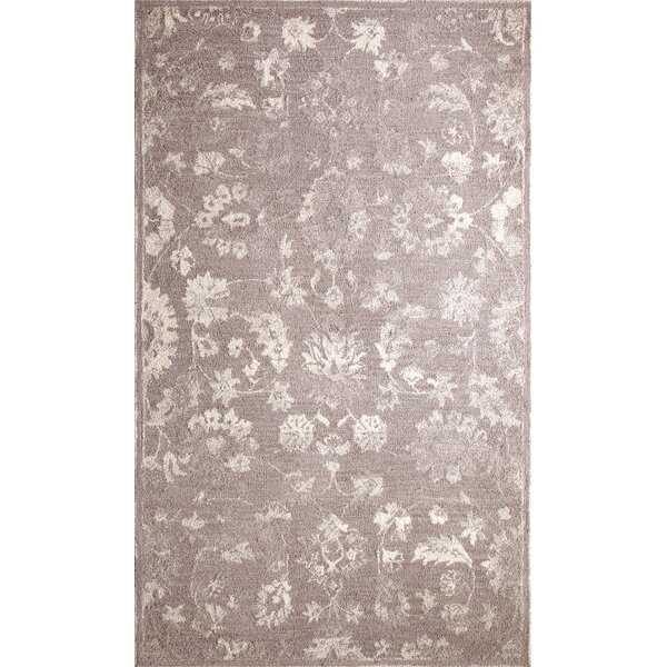 Montoya Hand-Tufted Silver/Ivory Area Rug by Bungalow Rose