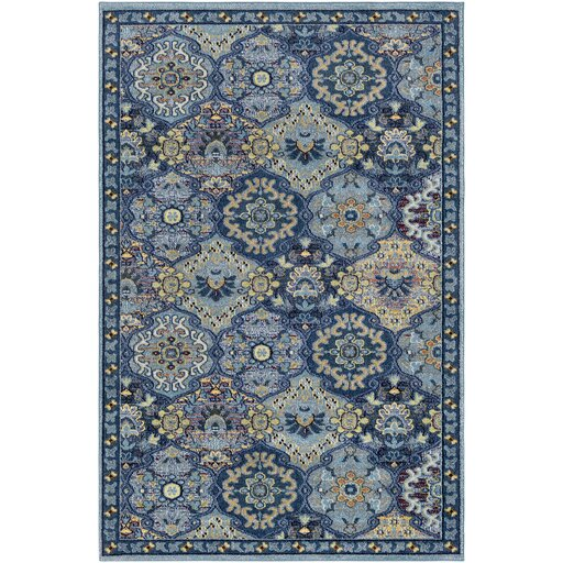 Andersonville Blue Area Rug by Bungalow Rose