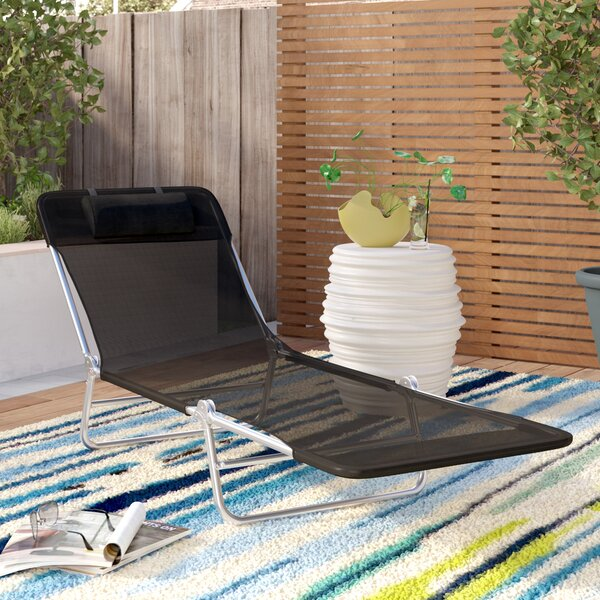 Shelly Reclining Chaise Lounge With Cushion By Symple Stuff