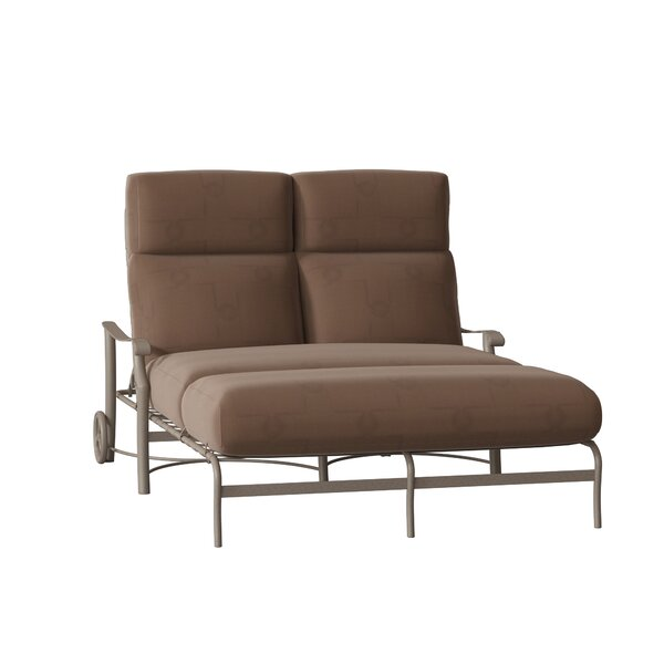 Montreux Double Reclining Chaise Lounge with Cushion by Tropitone Tropitone