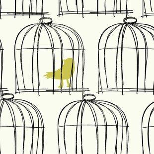 Book Birdcage 27 X Wallpaper Roll