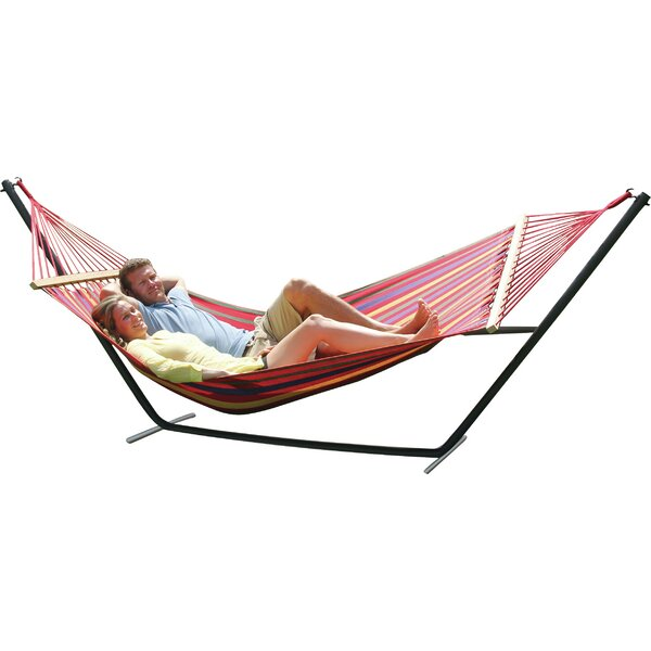 Powell Point Cotton Hammock with Stand by Bungalow Rose