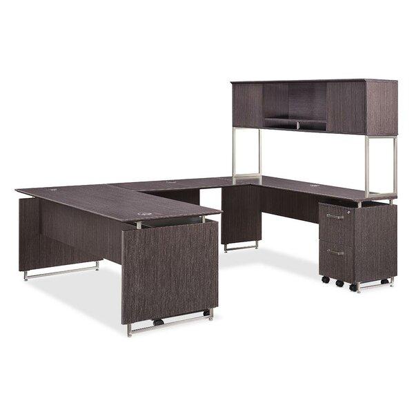 Horizon Reversible U-Shaped Desk with Hutch