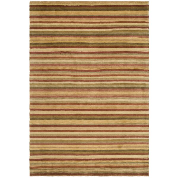 Wool Rust Area Rug by dCOR design