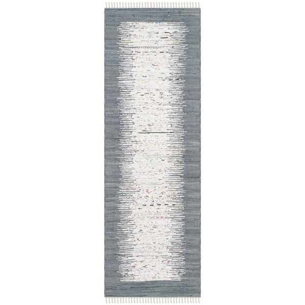 Jameson Contemporary Hand-Woven Ivory/Gray Area Rug by Langley Street
