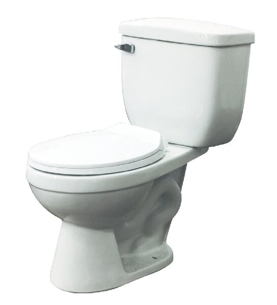 Madison 1.6 GPF Round Two Piece Toilet by Transolid