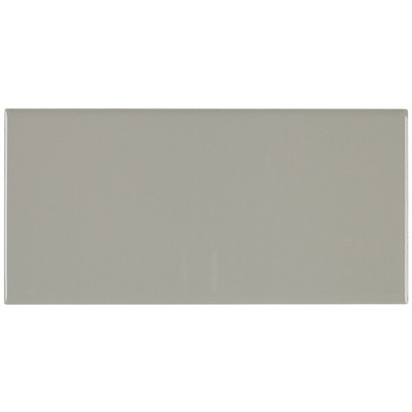 Berkeley 4 x 8 Ceramic Subway Tile in Architectural Gray by Itona Tile
