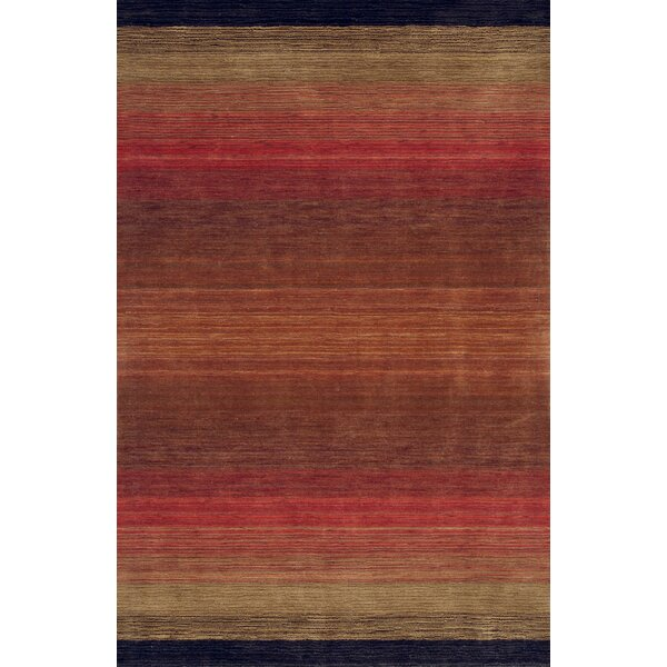 Vauxhall Hand Woven Wool Red Area Rug by World Menagerie