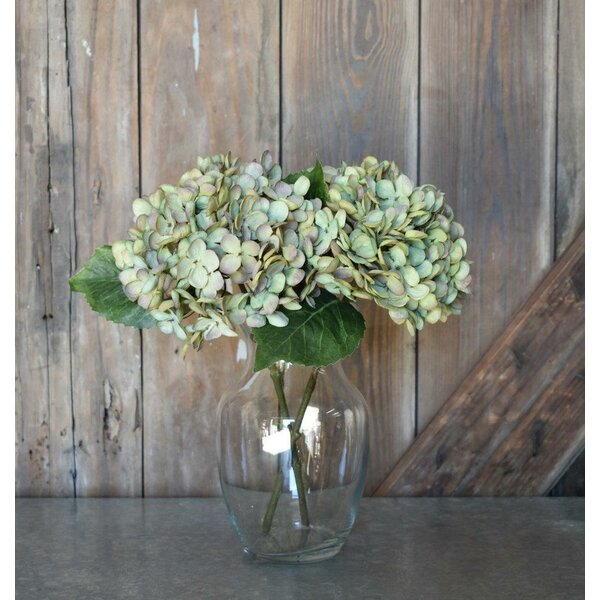 Faux Hydrangea Stems (Set of 6) by Highland Dunes