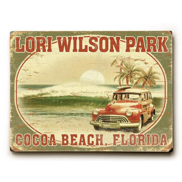 Vintage Woody on Beach Vintage Advertisement by Artehouse LLC